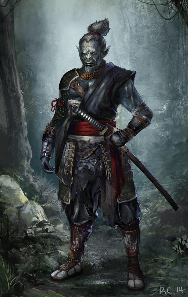 Orc Samurai! (For Brainstorm) by Showmeyourmoves
