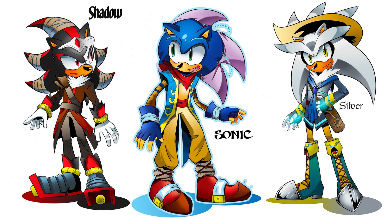 Speaking, sonic shadow and silver as girls