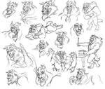 Sketches Beast-Disney