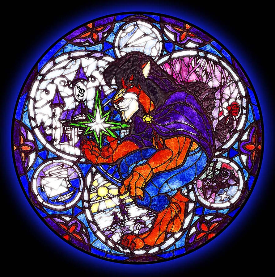 Stained Glass Kingdom Hearts by beastiar-Veter on DeviantArt