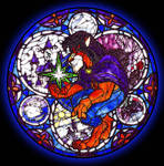 Stained Glass Kingdom Hearts