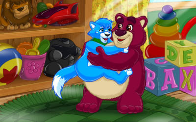 Hugs from Lotso - Commission