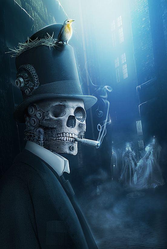 Dark Skull Smoking by Vickusappy on DeviantArt