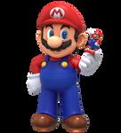 Mario with his Amiibo