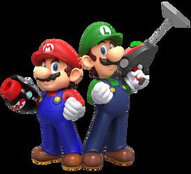 Mario and Luigi: Gunner Bros by Sonicjeremy