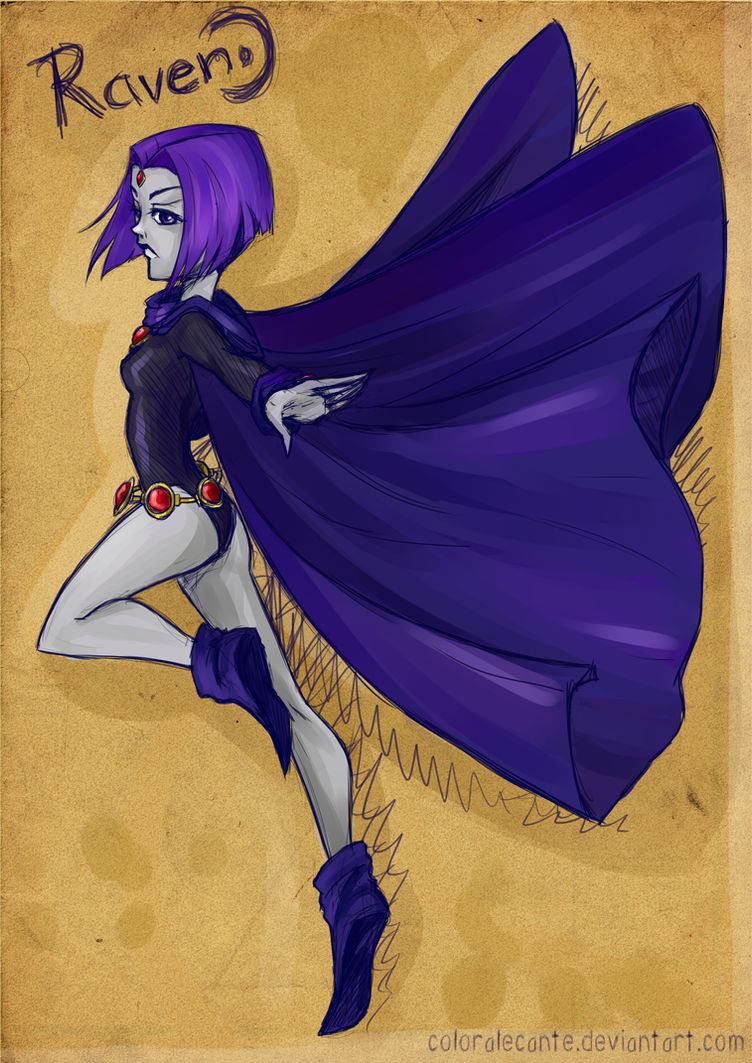 Teen Titan Raven by Coloralecante