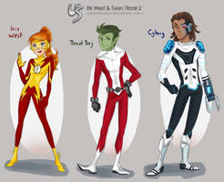 US - Iris West and Teen Titans 2 by Coloralecante