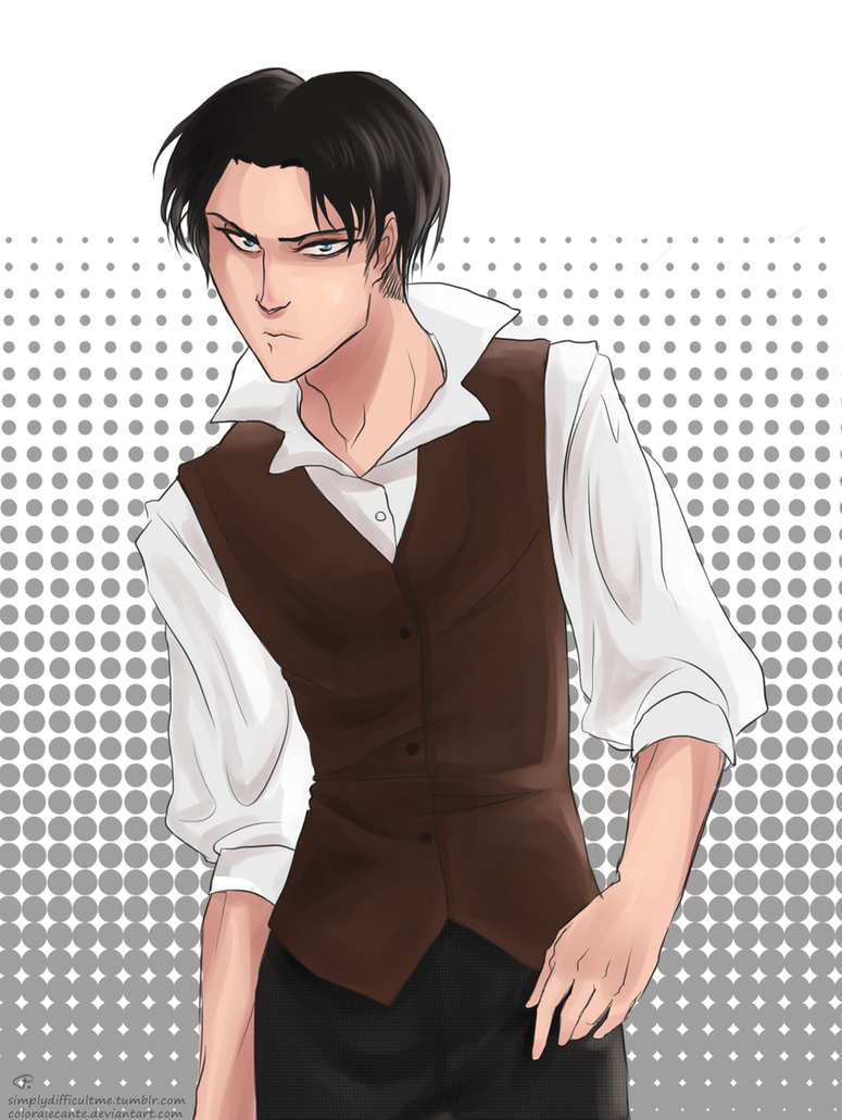 AoT - sceptical glance by Coloralecante