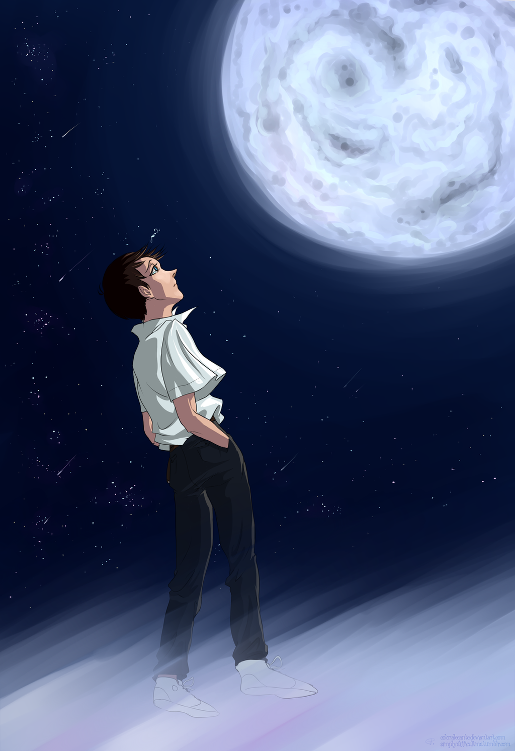 NGE Looking For The Boy In Moon By Coloralecante