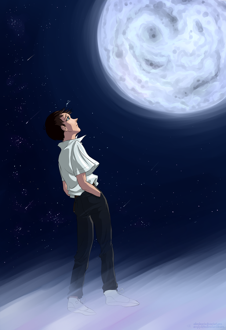 NGE: Looking for the boy in the Moon by Coloralecante