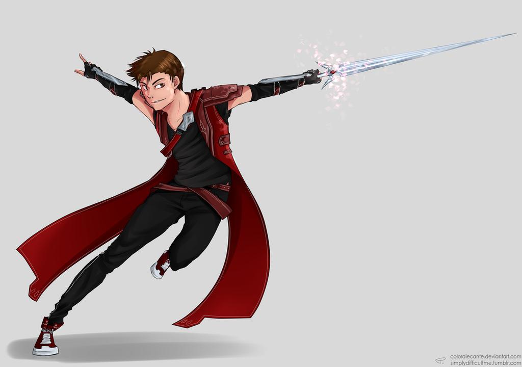 Red Swordsman by Coloralecante