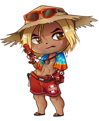 Jesse McCree Summer Skin Chibi by Coloralecante