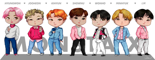 Monsta X - Chibi Poster 80x30cm by Coloralecante
