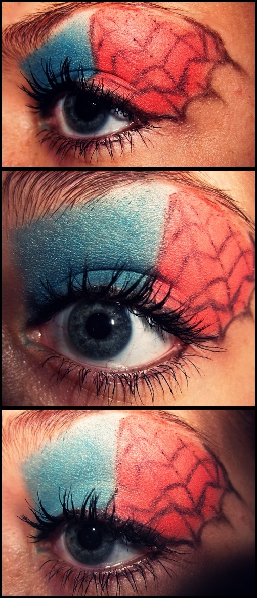 spiderman makeup by DagmarViktoria on DeviantArt