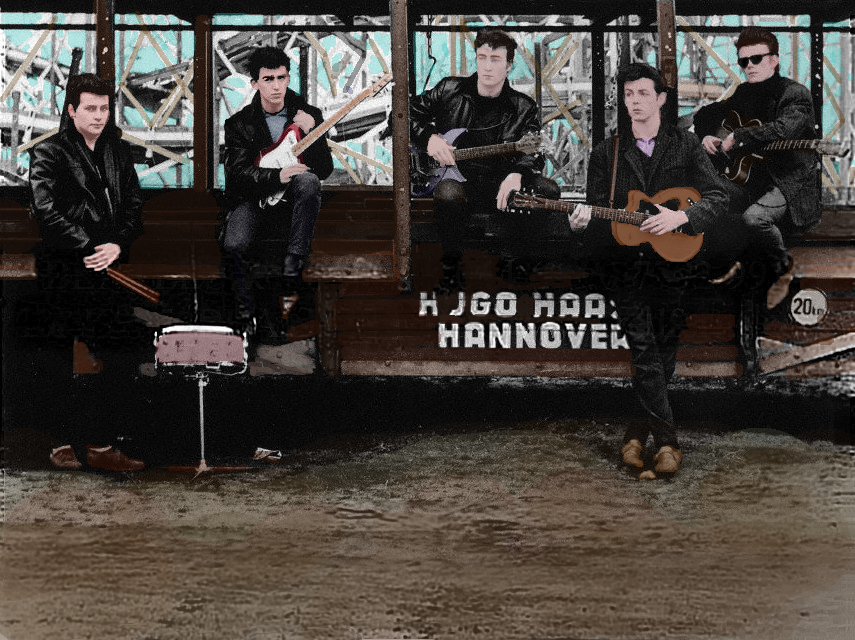 Beatles in Hamburg Colorized by TragicalMysteryWar
