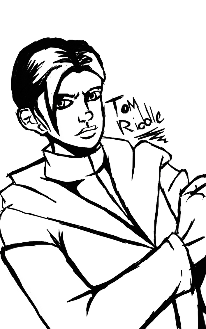 Line Drawing Riddles : Tom riddle lineart by capricornicis on deviantart