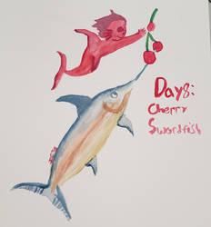 Mermay 2k20 Day 8: cherry/swordfish