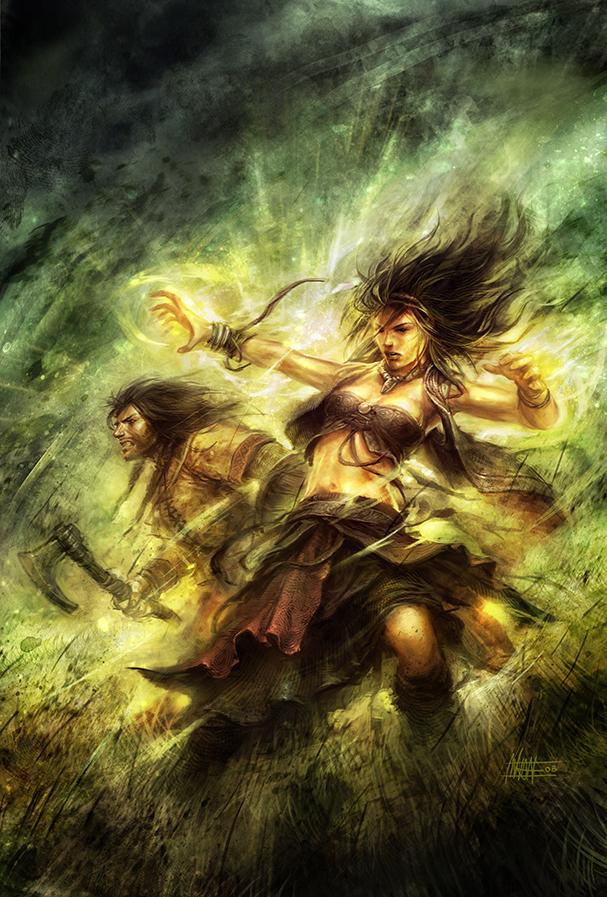Kazi the Sorceress by michalivan