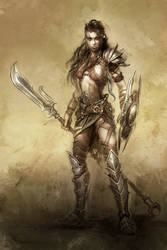 warrior girl by michalivan