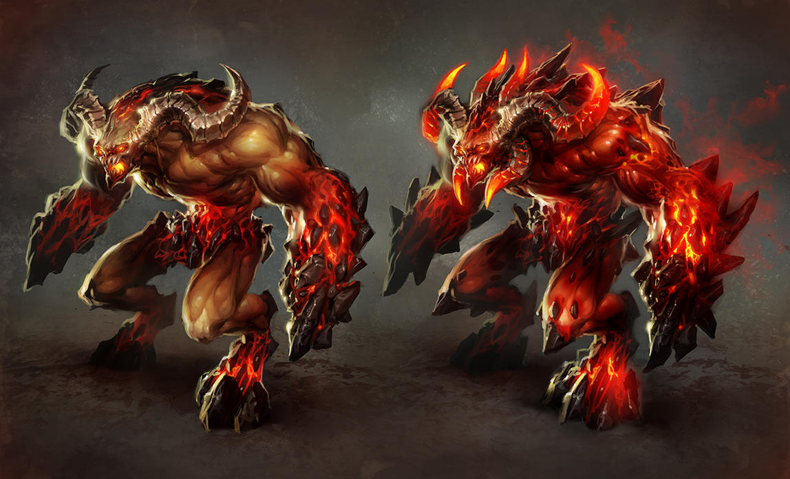 Game Character Concept Design : Inferno juggernaut by michalivan on deviantart