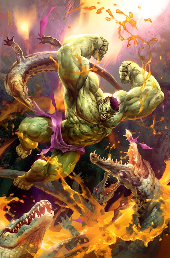 Jungle Hulk by michalivan
