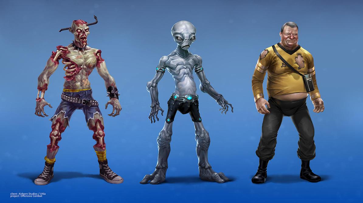 offensive combat characters by michalivan