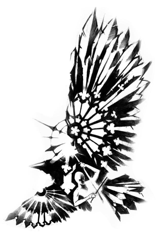 raven tattoo by michalivan on deviantart. Black Bedroom Furniture Sets. Home Design Ideas