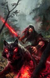 black wolf by michalivan