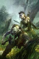goblin + half elf by michalivan