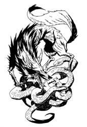 wolf snake rat by michalivan