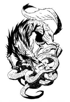 wolf snake rat