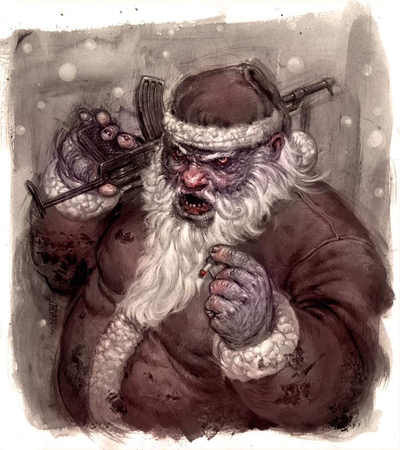 Badass Wallpapers: Bad Ass Santa By Michalivan On DeviantArt