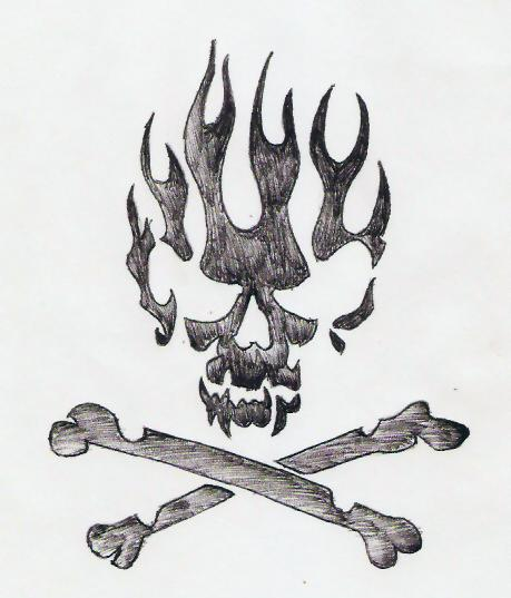 Fire skull by ghostnikhil on deviantart fire skull by ghostnikhil voltagebd Choice Image