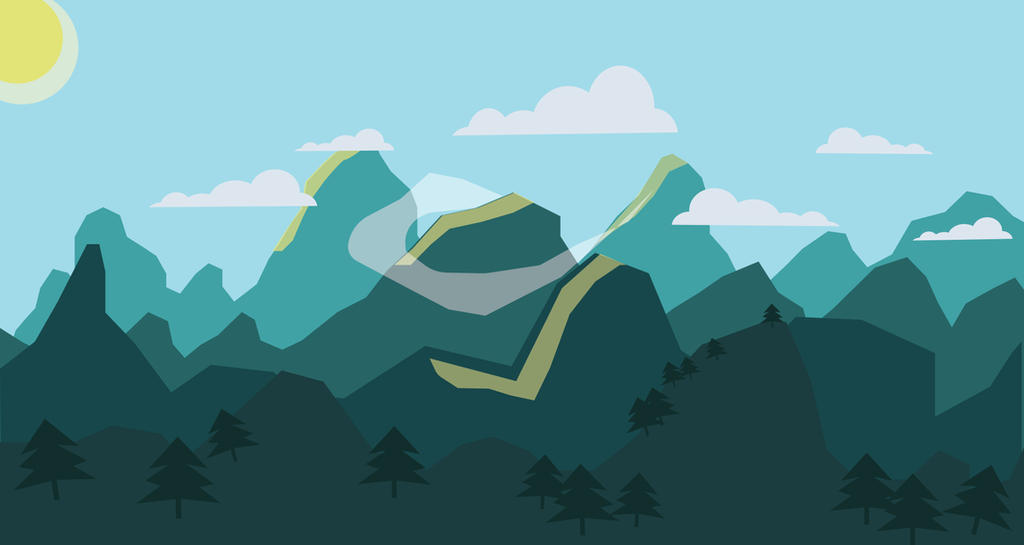 Flat Landscape Illustrator Tutorial Bellow By Sad Chesh On Deviantart