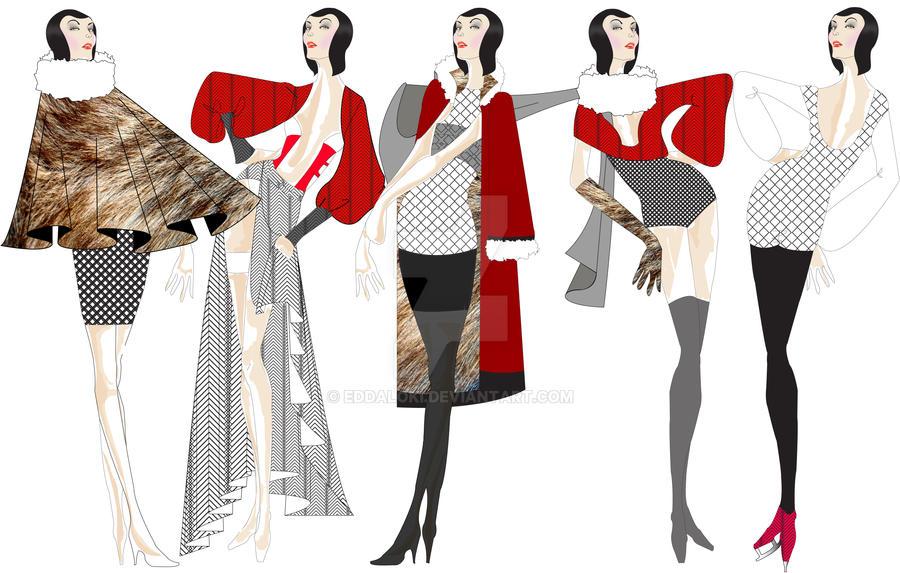 Fashion Design Cad Projects By Eddaloki On Deviantart