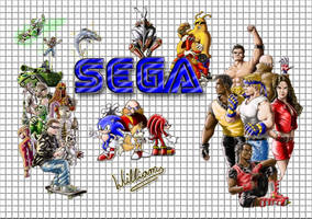Sega Mega Drive classic days by WilliamLink