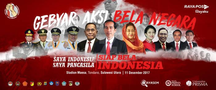 Gebyar Aksi Bela Negara 2017 Sulawesi Utara