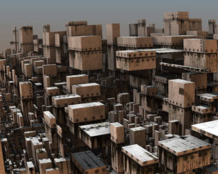 Avengium Fractal city in modern times II by Avengium