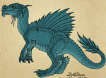 Dinosaur theropod turquoise 2013 by DollDivine by Avengium