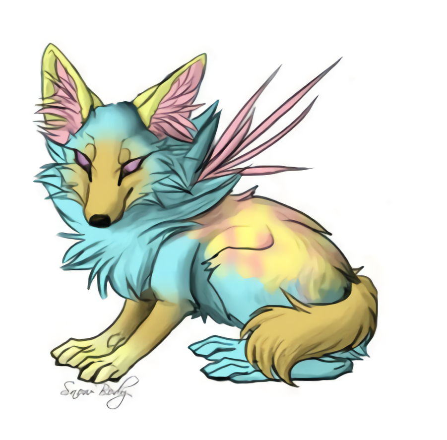 Wise Fox Pastel Colored by Toxyk-Melodi by Avengium