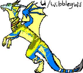 Drag'Hunn v1 Pixelart 01 Wibbleywil