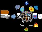 Elementos RPG Old 6+6+8 Hexagonos octogono