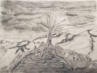 Landscape crow by JDGRIMM