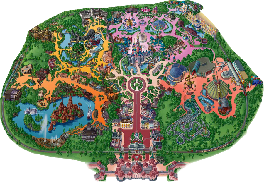 Disneyland Paris Park Map by Geky12 on DeviantArt