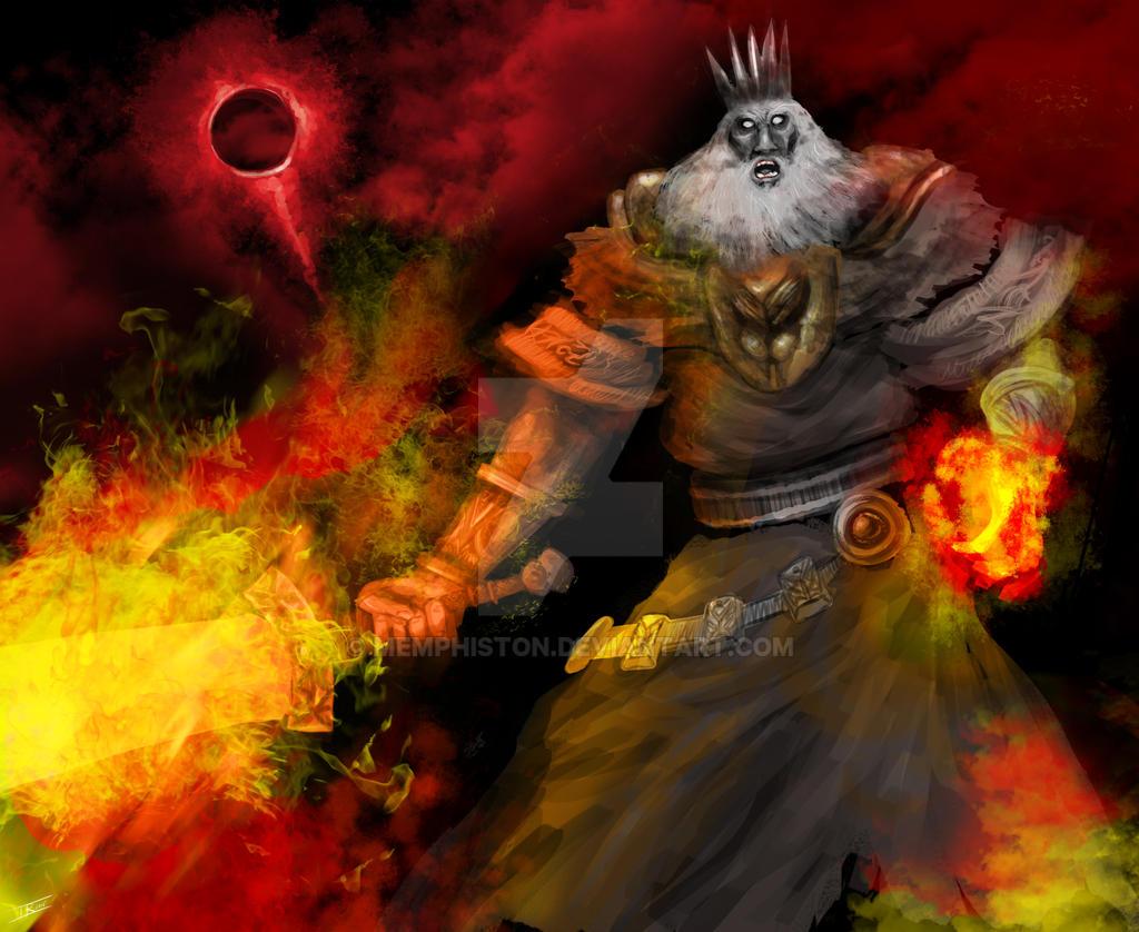 Soul Of Cinder Fan Art: Lord Of Cinder, Gwyn By Memphiston On DeviantArt