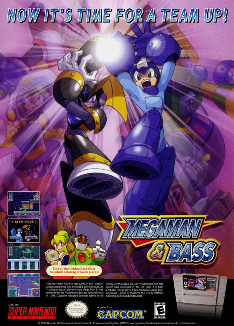 Megaman and Bass Overseas Ad by heavycarcass