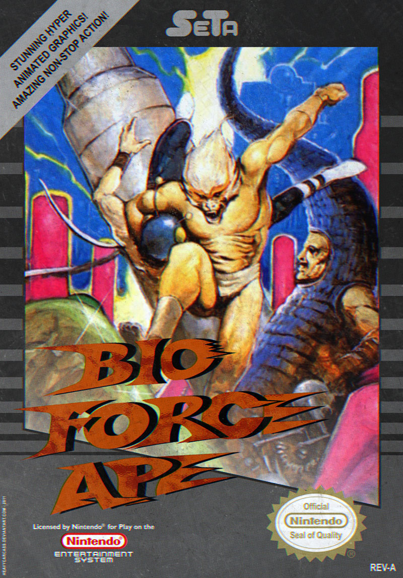 Bio Force Ape NES Boxart by heavycarcass