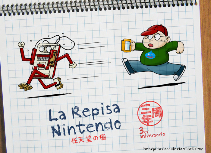 Repisa Nintendo's 3rd Anniversary Doodle by heavycarcass