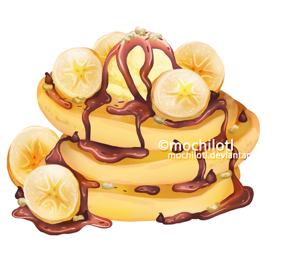 Banana Pancakes by mochilotl