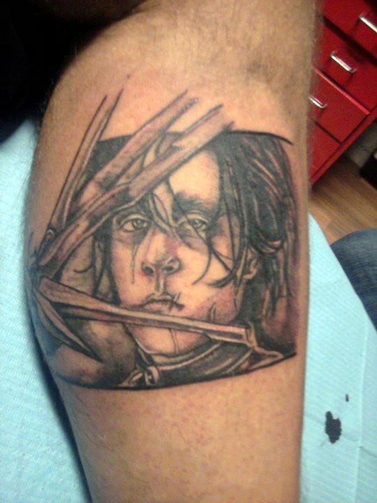 edward scissorhands tattoo by dottcrudele on deviantart. Black Bedroom Furniture Sets. Home Design Ideas